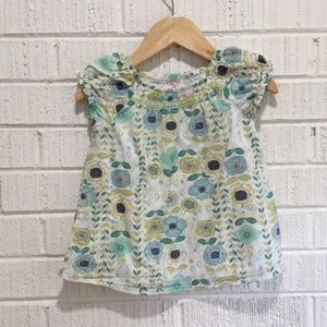 24M Green & Teal Floral Sonoma Shirt